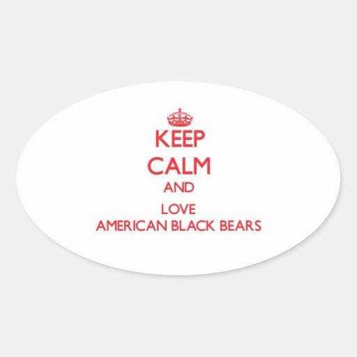 Keep calm and love American Black Bears Sticker