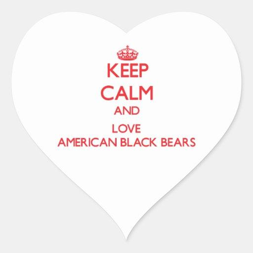 Keep calm and love American Black Bears Stickers