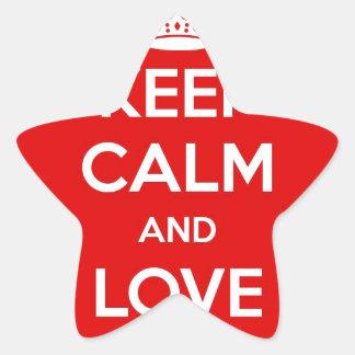 Keep Calm and Love Amsterdam Star Sticker