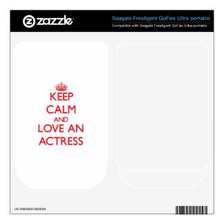 Keep Calm and Love an Actress FreeAgent GoFlex Skins