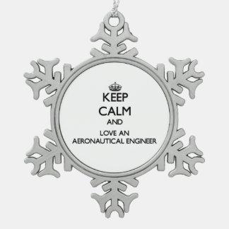 Keep Calm and Love an Aeronautical Engineer Ornament