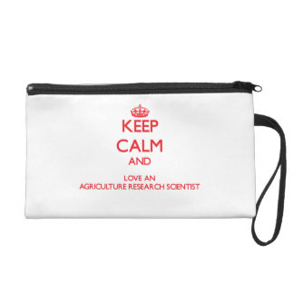 Keep Calm and Love an Agriculture Research Scienti Wristlet Clutch
