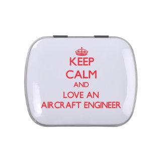 Keep Calm and Love an Aircraft Engineer Candy Tin