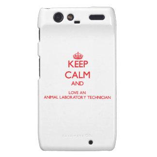 Keep Calm and Love an Animal Laboratory Technician Motorola Droid RAZR Cases