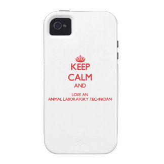 Keep Calm and Love an Animal Laboratory Technician Case-Mate iPhone 4 Case