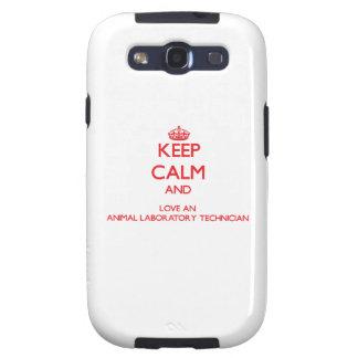 Keep Calm and Love an Animal Laboratory Technician Samsung Galaxy S3 Cover