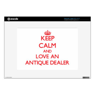 Keep Calm and Love an Antique Dealer Decals For Netbooks