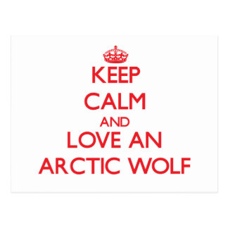 Keep calm and love an Arctic Wolf Postcard
