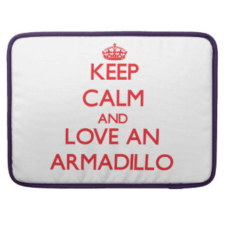Keep calm and love an Armadillo MacBook Pro Sleeves