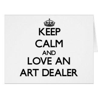 Keep Calm and Love an Art Dealer Large Greeting Card