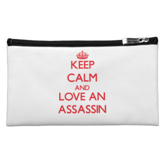 Keep Calm and Love an Assassin Cosmetics Bags