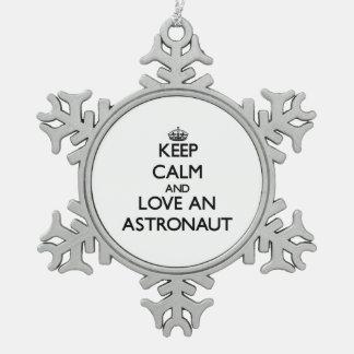 Keep Calm and Love an Astronaut Ornaments