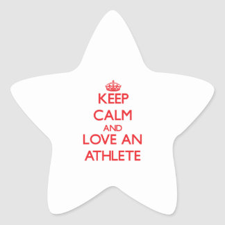 Keep Calm and Love an Athlete Star Stickers