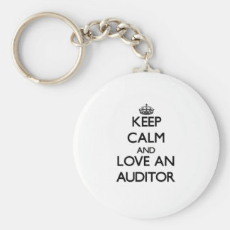 Keep Calm and Love an Auditor Basic Round Button Keychain