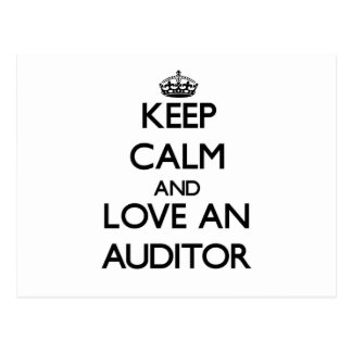 Keep Calm and Love an Auditor Post Cards