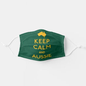 Keep Calm and Love An Aussie Australian Cloth Face Mask