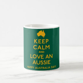 Keep Calm and Love an Aussie! Coffee Mug
