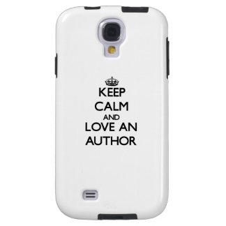Keep Calm and Love an Author Galaxy S4 Case