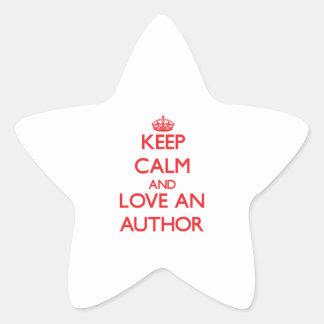 Keep Calm and Love an Author Sticker