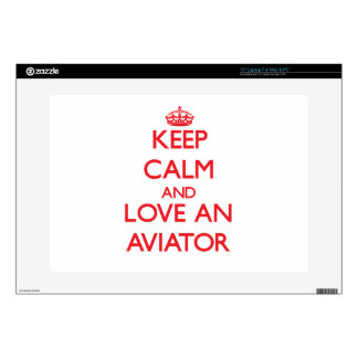 "Keep Calm and Love an Aviator 15"" Laptop Decal"