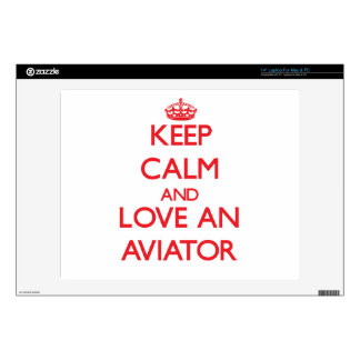 Keep Calm and Love an Aviator Laptop Skins