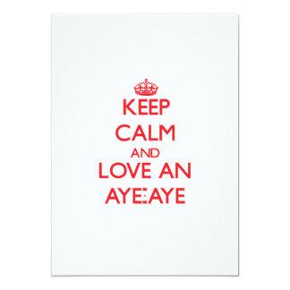 Keep calm and love an Aye-Aye 5x7 Paper Invitation Card