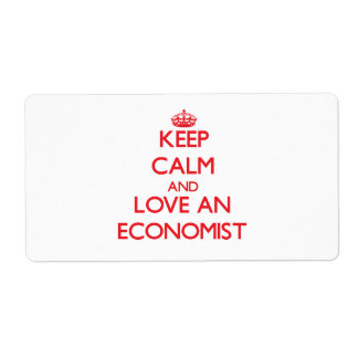 Keep Calm and Love an Economist Shipping Label