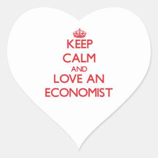 Keep Calm and Love an Economist Heart Sticker