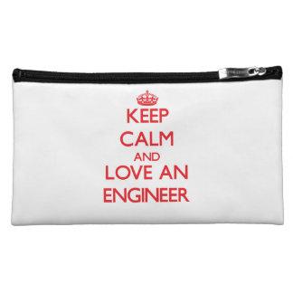 Keep Calm and Love an Engineer Makeup Bag