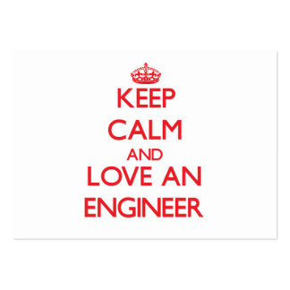 Keep Calm and Love an Engineer Large Business Cards (Pack Of 100)