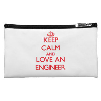 Keep Calm and Love an Engineer Cosmetic Bag