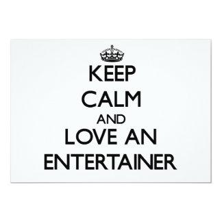 Keep Calm and Love an Entertainer Custom Invite