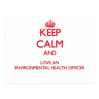 Keep Calm and Love an Environmental Health Officer Postcard
