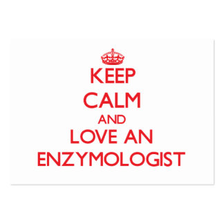 Keep Calm and Love an Enzymologist Business Card Templates