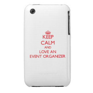 Keep Calm and Love an Event Organizer iPhone 3 Cover