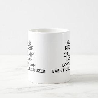 Keep Calm and Love an Event Organizer Classic White Coffee Mug