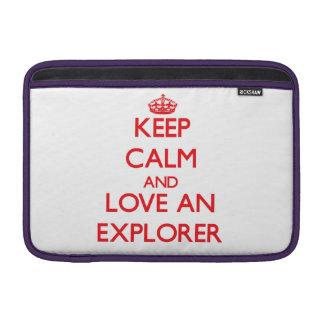 Keep Calm and Love an Explorer Sleeves For MacBook Air