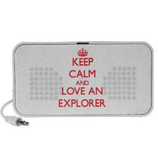 Keep Calm and Love an Explorer Notebook Speaker