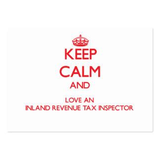 Keep Calm and Love an Inland Revenue Tax Inspector Business Card Template