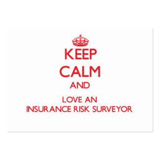 Keep Calm and Love an Insurance Risk Surveyor Business Card Template