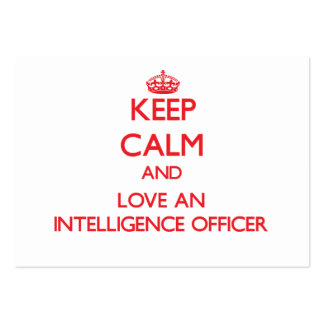 Keep Calm and Love an Intelligence Officer Large Business Cards (Pack Of 100)