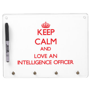 Keep Calm and Love an Intelligence Officer Dry Erase Boards