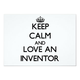 "Keep Calm and Love an Inventor 5"" X 7"" Invitation Card"