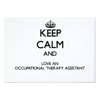 Keep Calm and Love an Occupational anrapy Assistan Personalized Announcement