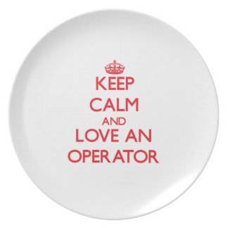 Keep Calm and Love an Operator Party Plate