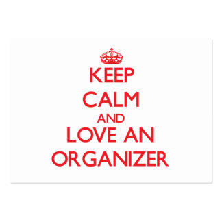 Keep Calm and Love an Organizer Large Business Cards (Pack Of 100)