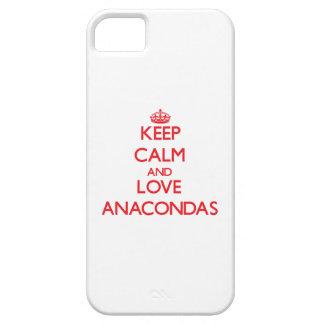 Keep calm and love Anacondas iPhone 5 Case
