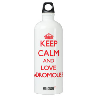 Keep calm and love Anadromous Fish SIGG Traveler 1.0L Water Bottle