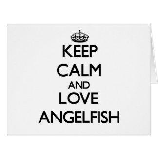 Keep calm and Love Angelfish Large Greeting Card