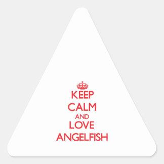 Keep calm and love Angelfish Stickers